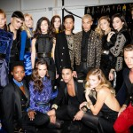 Alessandra Ambrosio, Bella Hadid, Ophelie Guillermand, Olivier Rousteing, Dudley O'Shaughnessy, Constance Jablonski, Gigi Hadid, Kendall Jenner, Benjamin Benedek
