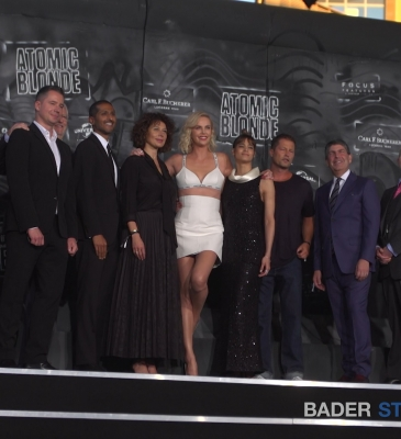 "Bader Studios Europe is on the red carpet of the European Premier of the Thriller, ""Atomic Blonde"" in Berlin"