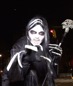 Costumed Revelers in New York City March in 43rd Annual Village Halloween Parade