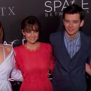 """ON THE RED CARPET AT THE MOVIE PREMIERE OF """"THE SPACE BETWEEN US"""" IN LOS ANGELES, CA"""