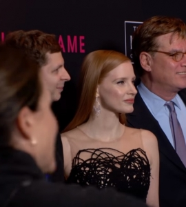 Aaron Sorkin, Jessica Chastain and Cast on The 'Molly's Game' Red Carpet in New York City