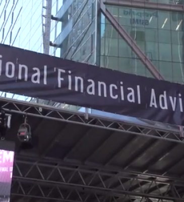 """""""MONEY TALKS"""" IN TIMES SQUARE!  NATIONAL FINANCIAL ADVISOR WEEK IN THE BIG APPLE"""