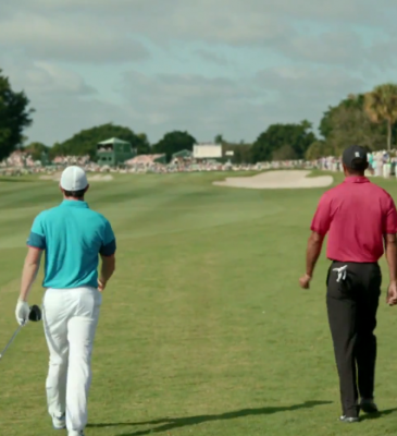 """NIKE GOLF – TELEVISION COMMERCIAL – """"RIPPLE"""" BEHIND-THE-SCENES WITH TIGER WOODS & RORY MCILROY!"""