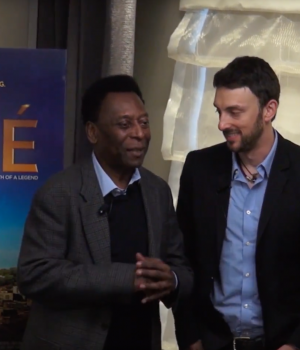 "PELÉ MEETS THE MEDIA TO DISCUSS ""BIRTH OF A LEGEND"" BIOGRAPHY FILM"