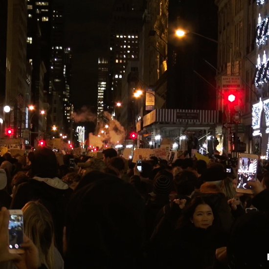 ANTI-TRUMP PROTESTS ERUPT IN NEW YORK CITY