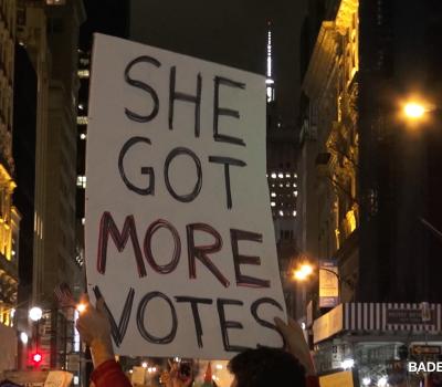 ANTI-TRUMP PROTESTS ERUPT IN NEW YORK CITY